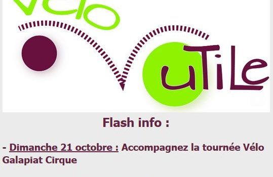Flash info, 2 dates à retenir en octobre 2018!