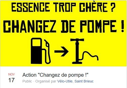 Action « Changez de pompe ! » le 17 nov. 14H