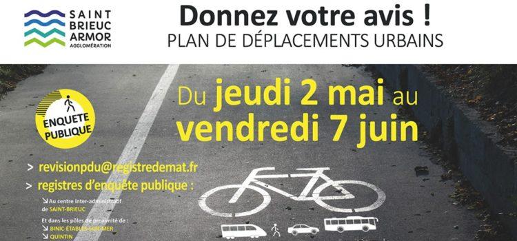 URGENT Il ne reste que 48h pour donner votre avis sur le nouveau Plan de Déplacements Urbains (PDU) de l'agglomération !