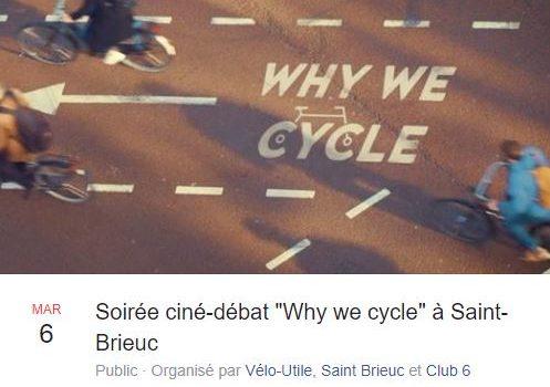 Soirée ciné-débat «Why we cycle» à Saint-Brieuc