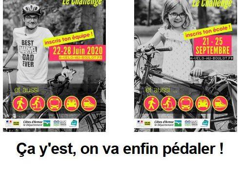 Challenge à Vélo au Boulot en deux temps :