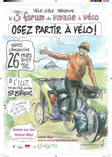 Forum du voyage à vélo «Osez partir à vélo !», 3eme édition, mars 2017